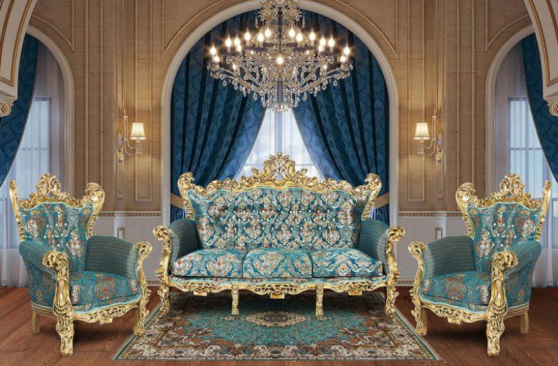 چیدمان مبل سلطنتی در منزل